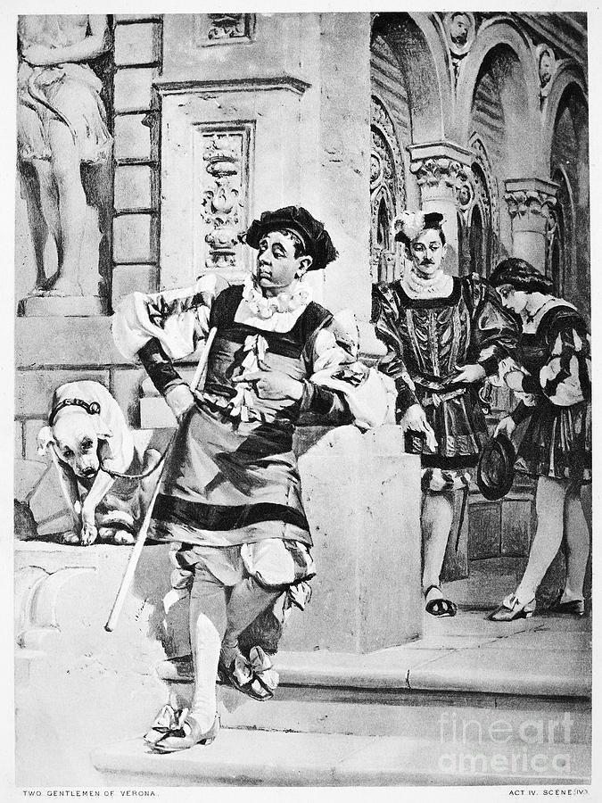 16th Century Photograph - Two Gentlemen Of Verona by Granger