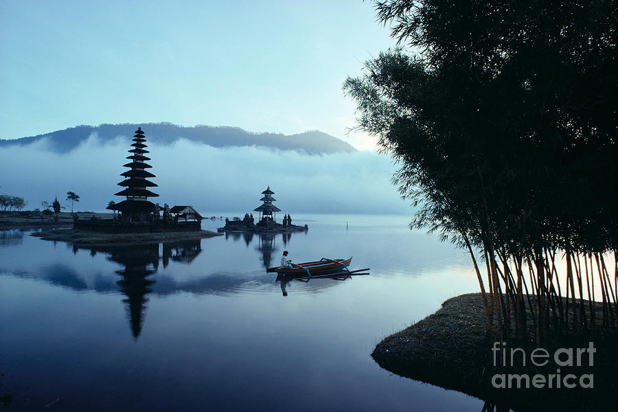 Bratan Photograph - Ulu Danu Temple by William Waterfall - Printscapes