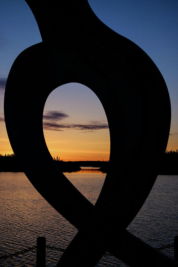 United in Celebration Sculpture at sunset 3 by John McArthur