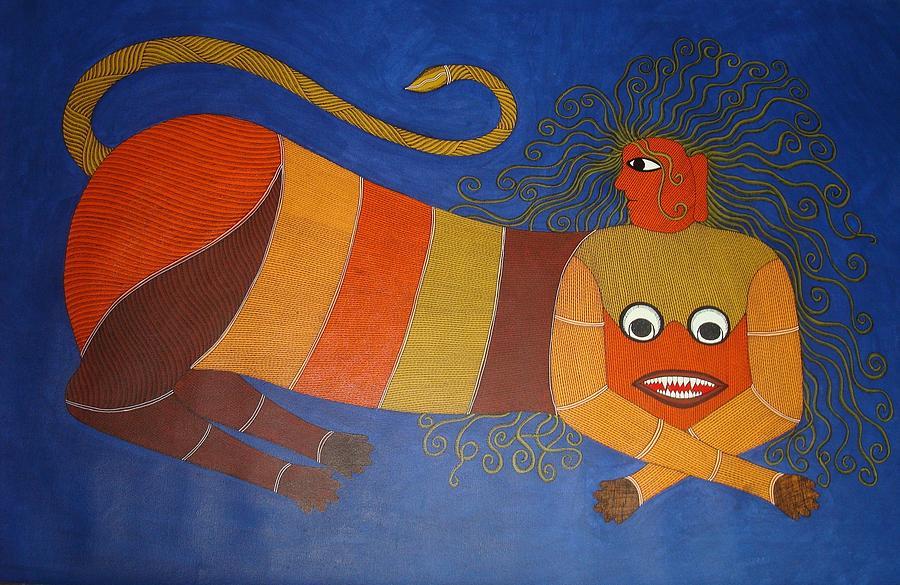 Untitled Painting by Bhajju Shyam