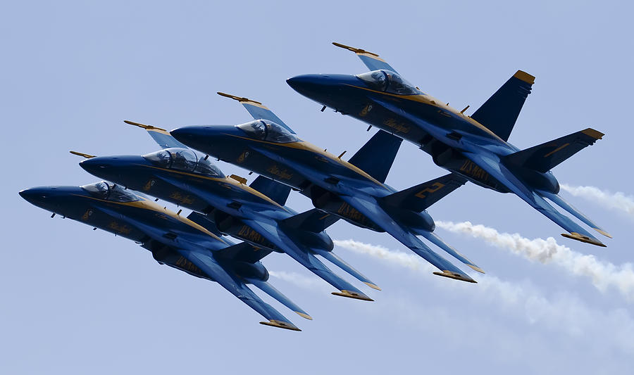 Us Navy Photograph - Us Navy Blue Angels Poster by Dustin K Ryan