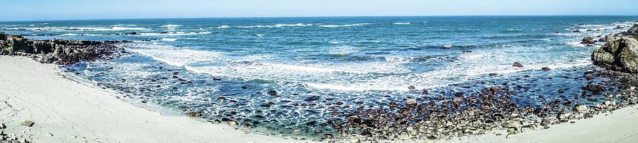 Landscape Photograph - Usa California Pacific Ocean Coast Shoreline by Alex Grichenko