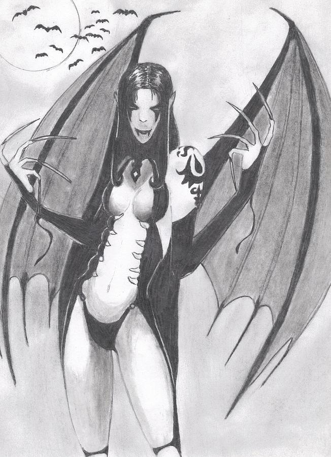 Vampire Drawing - Vampire by Josh Bennett