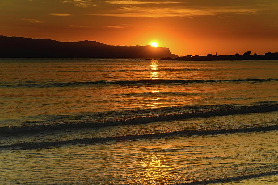 Australia Photograph - Vibrant Orange Sunrise Seascape by Merrillie Redden