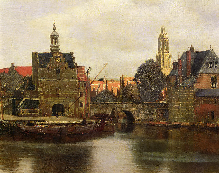 Landscape Painting - View Of Delft by Jan Vermeer