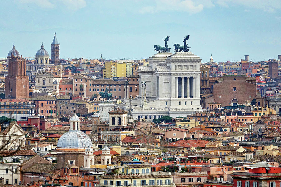 View Of Rome Italy From Atop Gianicolo Hill Photograph