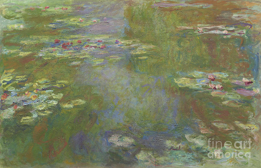 Monet Painting - Water Lily Pond by Claude Monet