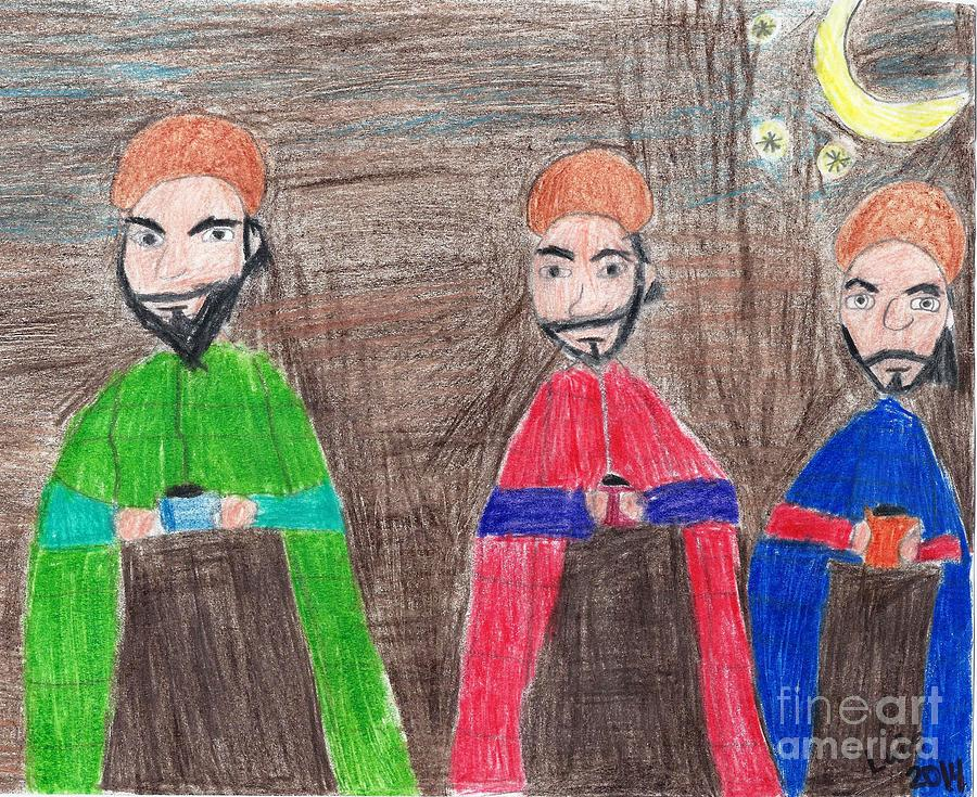 Wise Men Painting - 3 Wise Men by Epic Luis Art