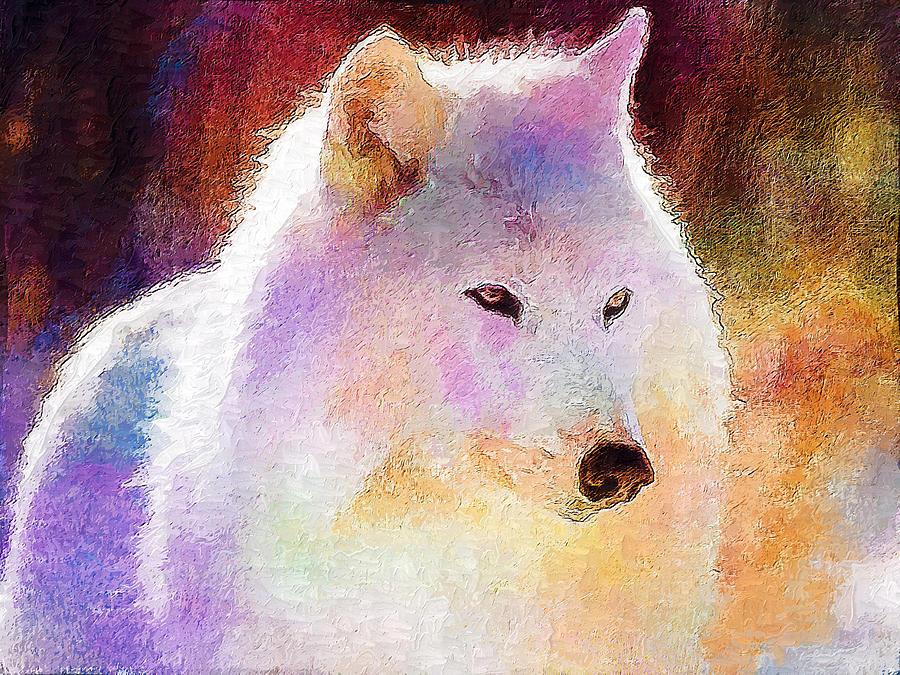 Wolf Digital Art - Wolf by Elena Kosvincheva