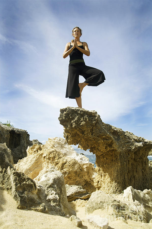 Attract Photograph - Woman Doing Yoga by Kicka Witte - Printscapes