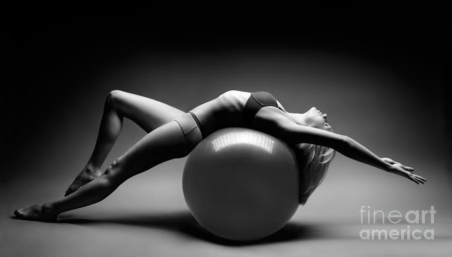 Woman Photograph - Woman On A Ball by Oleksiy Maksymenko