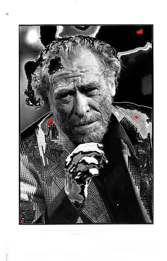 Writer Charles Bukowski On Tv Show Apostrophes September 1978-2013 Photograph by David Lee Guss