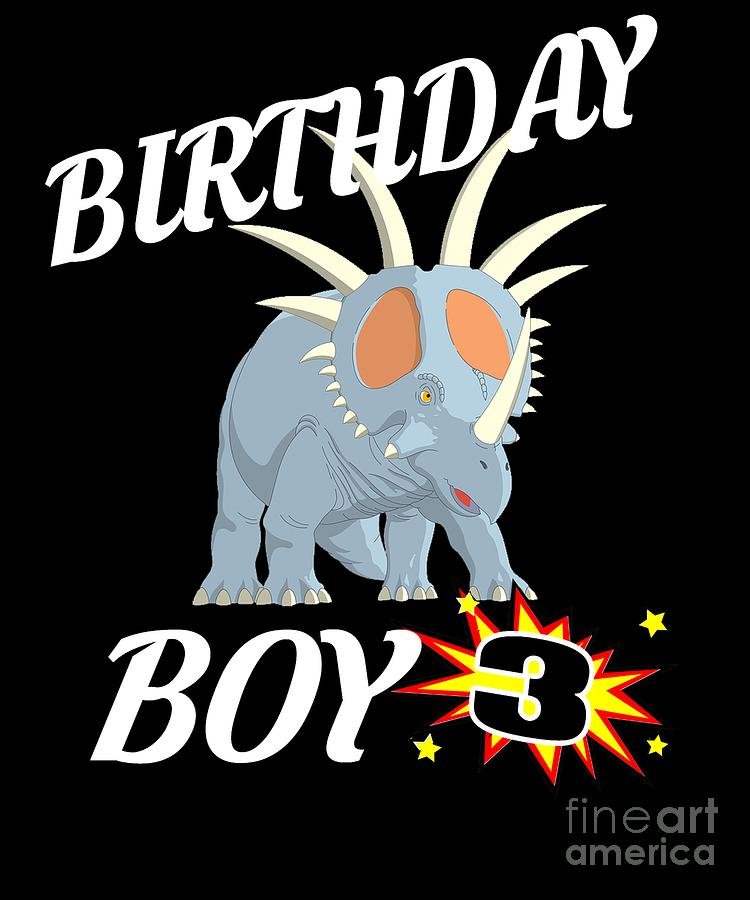 3 Years Old Birthday Design Dinosaur Gift