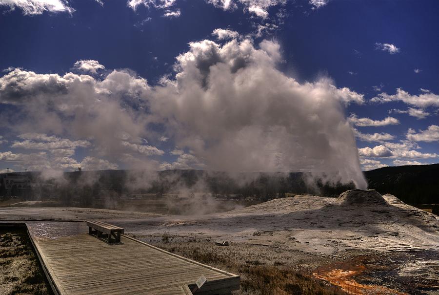 Yellowstone Geyser Photograph - Yellowstone Sky by Patrick  Flynn