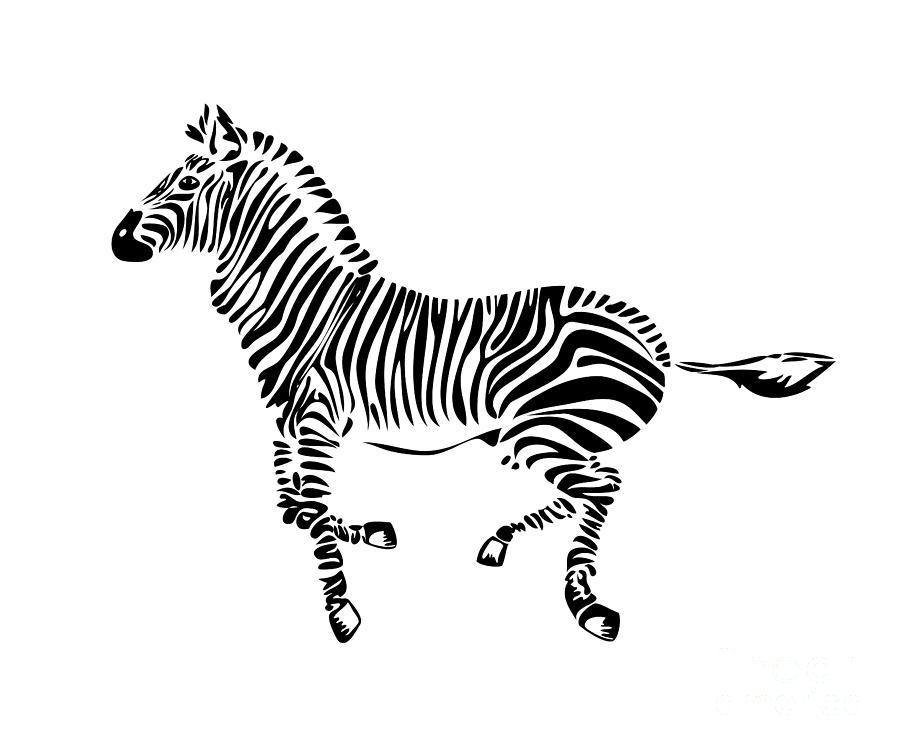 Zebra Digital Art - Zebra by Michal Boubin