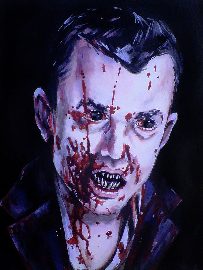 Vampire Painting - 30 Days Of Night by Danielle LegacyArts