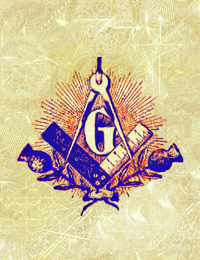 Freemason Painting - Freemason, Masonic, Symbols 30 by Pierre Blanchard