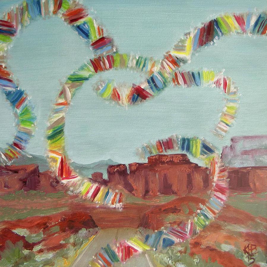 Migraine Painting - 30 Minutes til Migraine by Kirsten Beitler