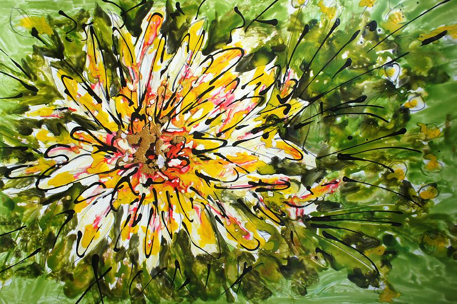 Flowers Painting - Divine Blooms by Baljit Chadha