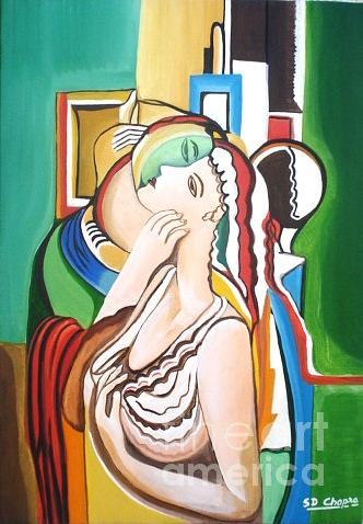 Oil Painting - 301-valentine -1  Love by Sd Chopra