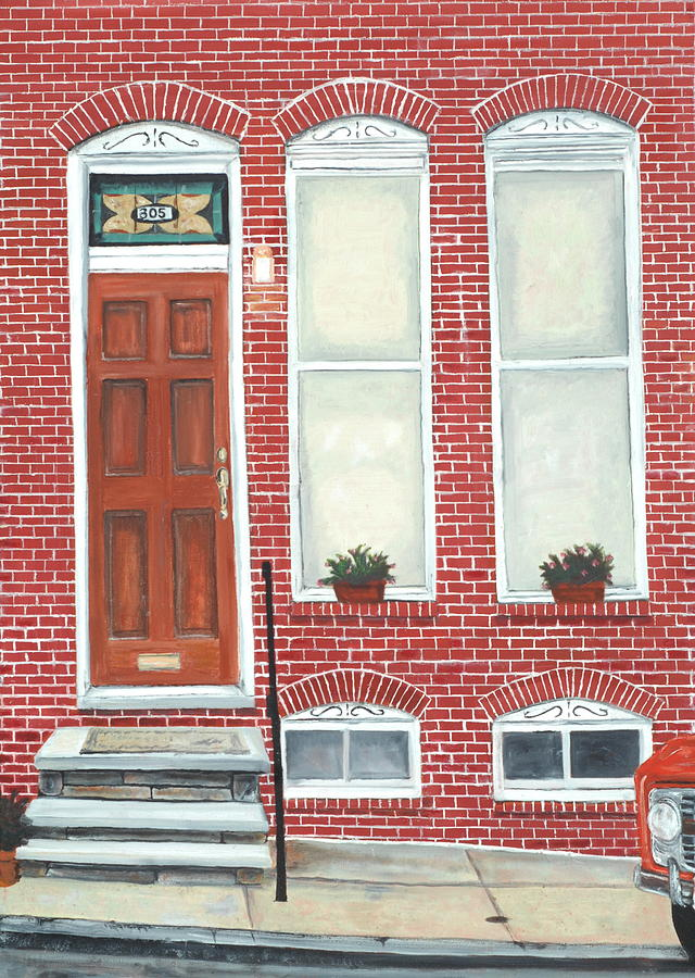 Federal Hill Painting - 305 Hamburg by John Schuller