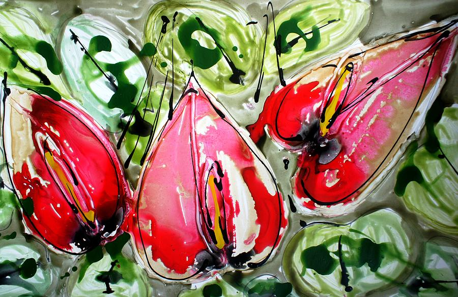 Flowers Painting - Divine Blooms by Baljit Chadha