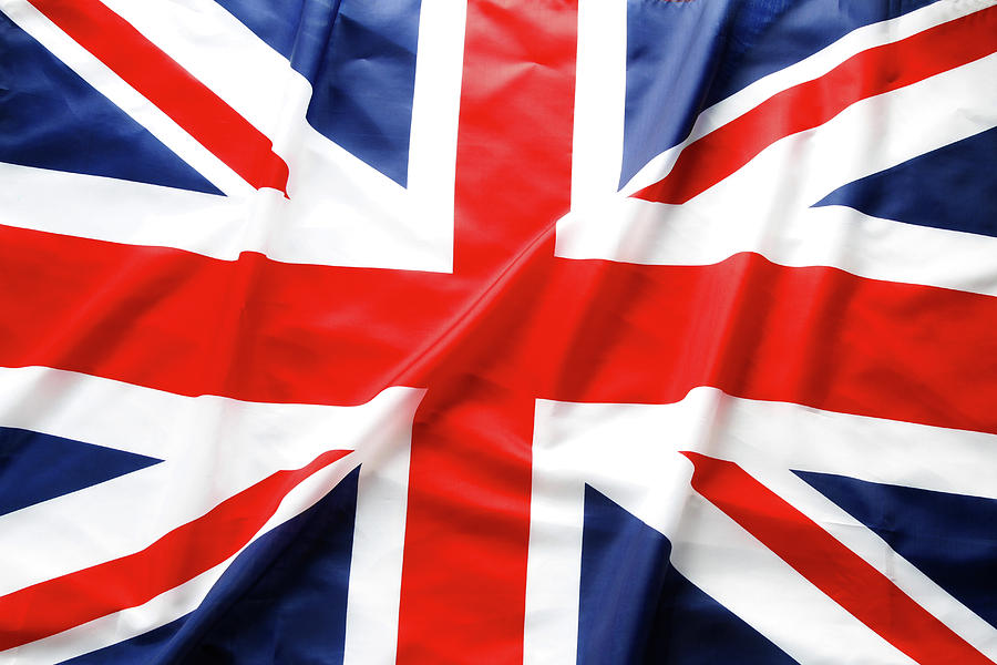 Flag Photograph - British Flag 6 by Les Cunliffe