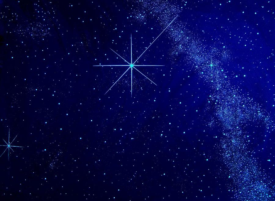Night Sky Painting - Cosmic Light Series by Len Sodenkamp