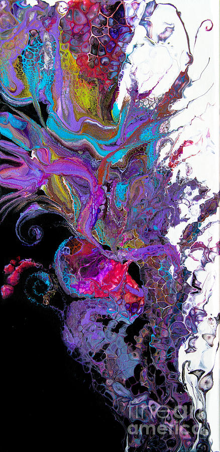#3118 Flaura Painting by Priscilla Batzell Expressionist Art Studio Gallery