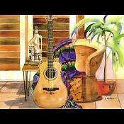 Guitar Print - Arts Siesta by Diana Madaras