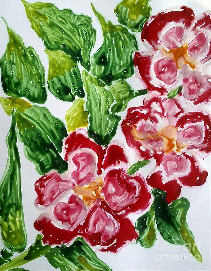 Divine Flowers Painting by Baljit Chadha