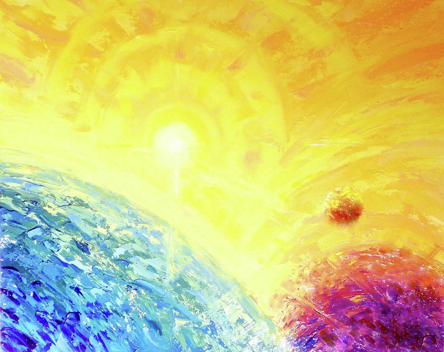 Goldilocks Zone Painting - Cosmic Light Series by Len Sodenkamp
