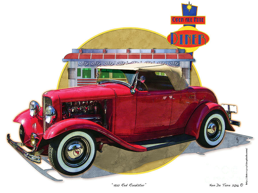 32 red roadster by Kenneth De Tore