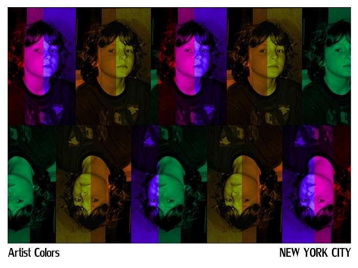 New York City Photograph - Artist Colors Self-portrait by Alexander Aristotle