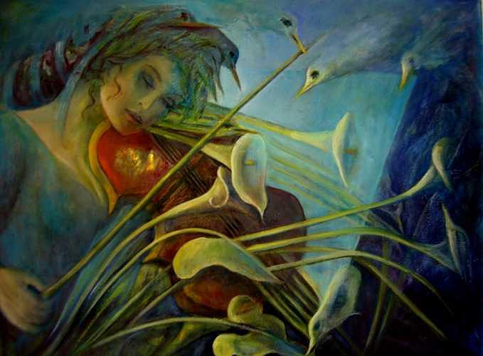 Song Of Nature Painting by Lozano Mary