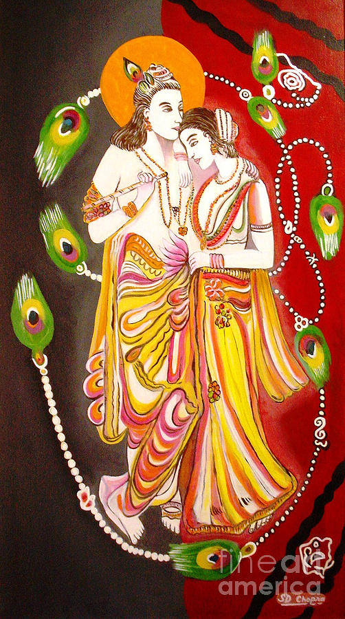 Religious Painting - 327-radha Kirshna  by Sd Chopra