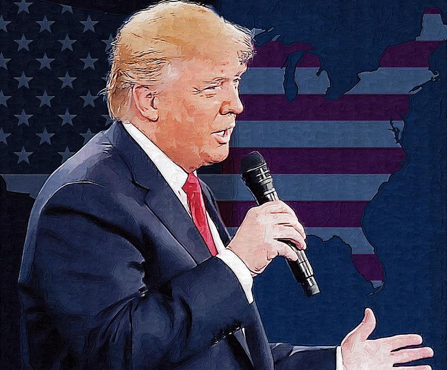 Donald Trump Digital Art - Donald Trump by Elena Kosvincheva