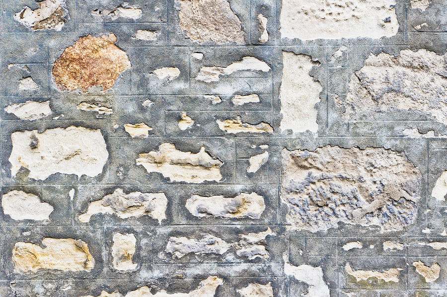 Abstract Photograph - Stone Wall by Tom Gowanlock