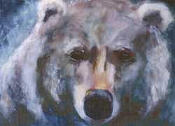 Bear Painting - Grizzly Bear by Cherri Lamarr