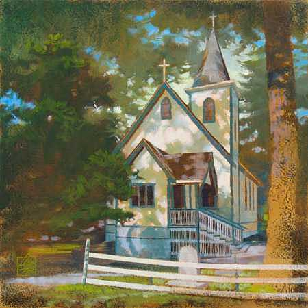 Colwood Painting - Country Church - Iv by Ken Campbell