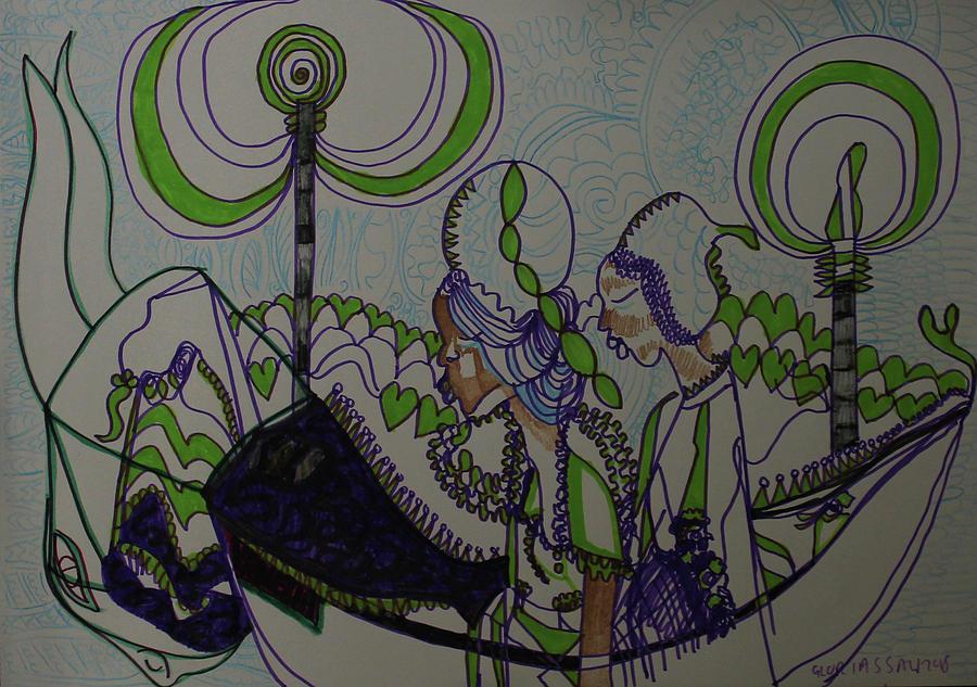 Jesus Painting - Kintu And Nambi  Folktale by Gloria Ssali