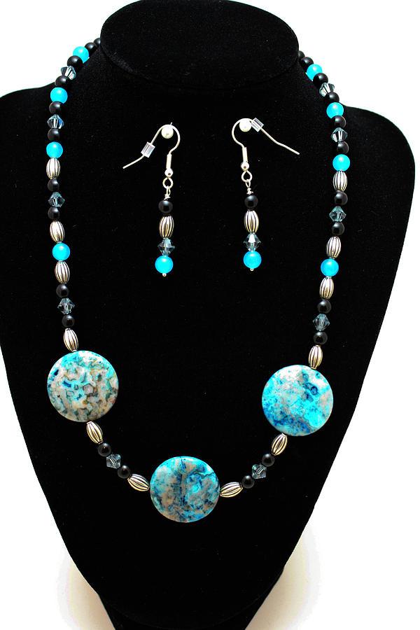 Jewelry Jewelry - 3517 Crazy Lace Agate Set by Teresa Mucha