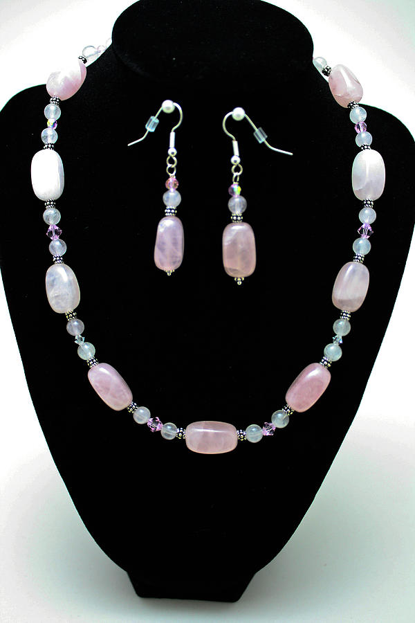 Jewelry Jewelry - 3558 Rose Quartz Set by Teresa Mucha