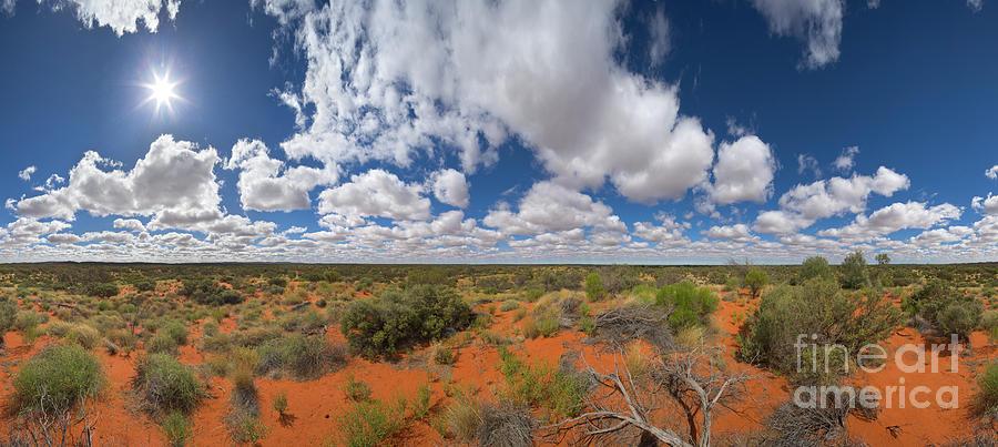 Mp Photograph - 360 Of Clouds Over Desert by Yva Momatiuk John Eastcott