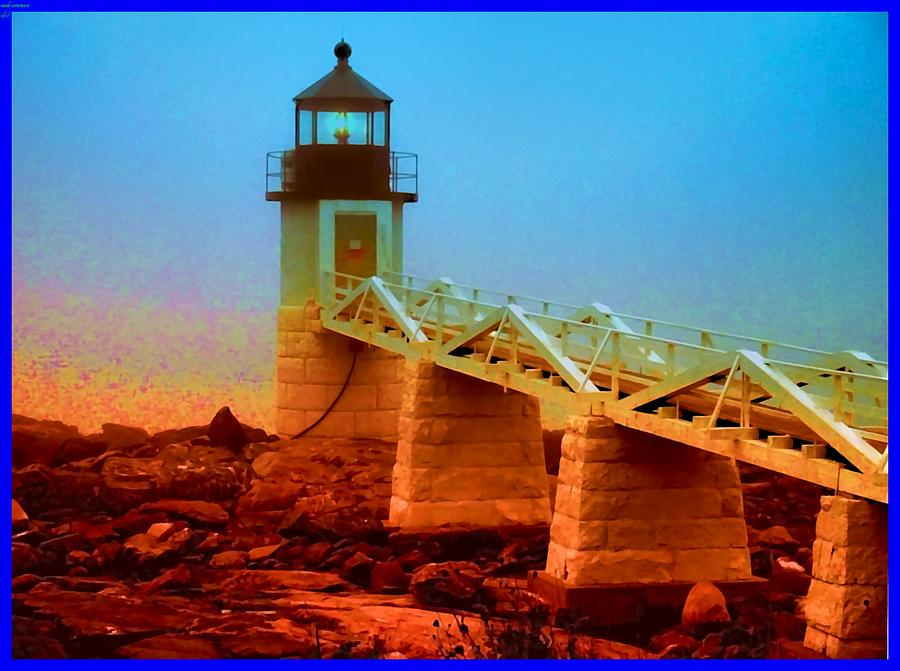 Lighthouse Photograph - 3600001  Maine Lighthouse by Ed Immar