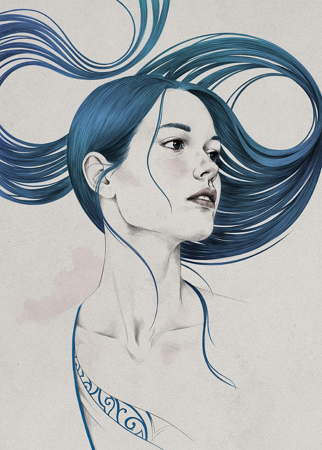 Woman Digital Art - 361 by Diego Fernandez