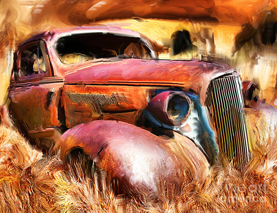 Cars Photograph - 37 Chevy by Tom Griffithe