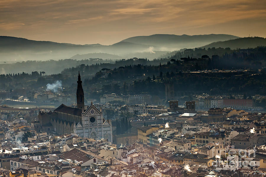 Ancient Photograph - Florence by Andre Goncalves