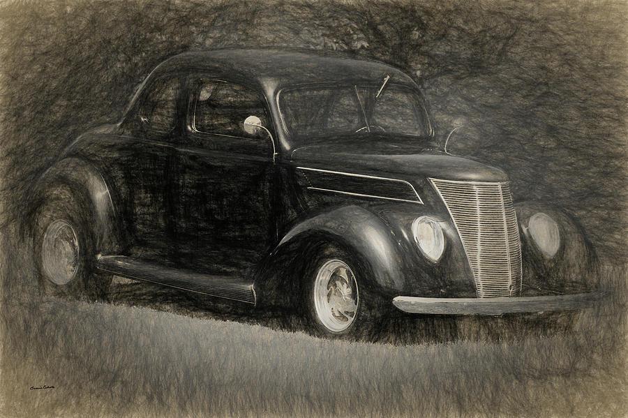 37 Ford Coupe Digital Art By Ernie Echols