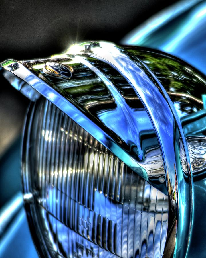 38 Ford Headlamp Photograph